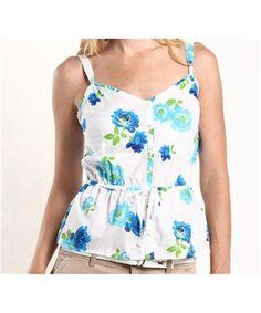 Blusinha Hollister Feminina FASHION TOP - Branca - Figo Verde: Roupas importadas originais blusas da aeropostale, blusas da hollister, camisas femininas, regata feminina, camisa regata
