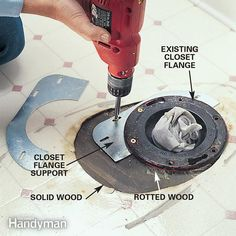 Minor wood rot around a toilet flange doesn't always mean you have to replace the subfloor. Solve the problem with a metal flange support instead.
