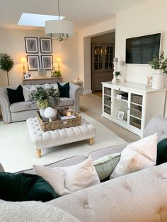 Living Room Planner, Ikea Living Room, Living Room Lounge, Living Room Decor Cozy, Elegant Living Room, Living Room Green, Cottage Lounge, Front Room Decor, Snug Room