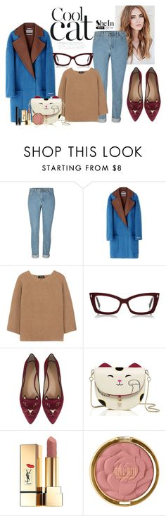 """""""Cool Cat"""" by themodernalice on Polyvore featuring Sportmax, A.P.C., Charlotte Olympia, Yves Saint Laurent, Milani and Chanel"""