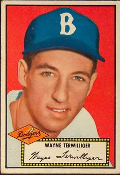 1952 Topps baseball #7 How much redder can the back of this portrait get??