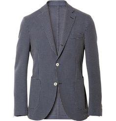 Slowear Montedoro Jacquard Check Cotton Blazer