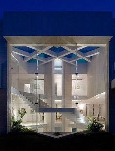 People in glass houses shouldn't......  Cool house!