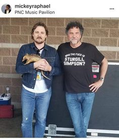 5.28.2018 w/ Mickey Raphael PNC Music Pavilion Sturgill Simpson, Concert Posters, Playing Guitar, Graphic Sweatshirt, T Shirt, Country Girls, Pavilion, Cowboys, Sweatshirts