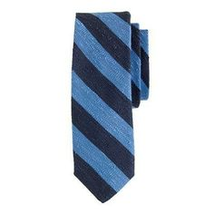 J.Crew textured English silk tie in old-school stripe.