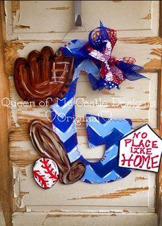 Baseball Door Hanger by queensofcastles on Etsy, $50.00