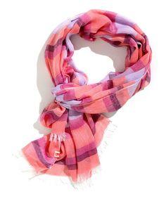 Look at this #zulilyfind! Light Grape & Smoke Rose Stripe Fringe Scarf #zulilyfinds