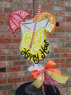 Wooden cocktail door hanger by ArtzyDecorAndMore on Etsy