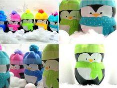 Lindos pingüinos con botellas de plástico