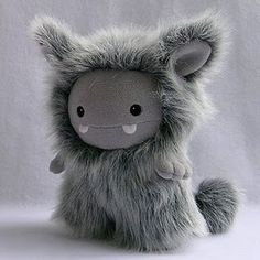 Cute Gray and Fluffy Plush Monster!
