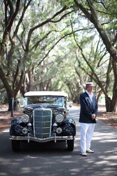 Chauffeur Awaits Belfair Bride and Groom. Landon Jacob Photography.