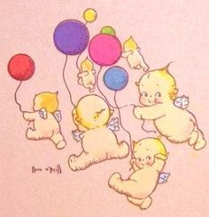 kewpies with balloons