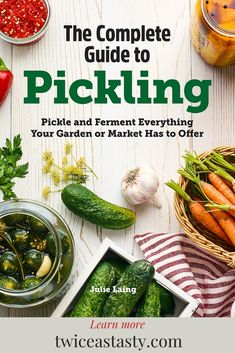 It's finally here! My brand new book, The Complete Guide to Pickling, is officially out in the world for you to read and enjoy. Kitchen Bookshelf, You Are The World, Pickling, Seaweed Salad, Recipe Collection, Picnic, The Creator, Tasty, Ethnic Recipes