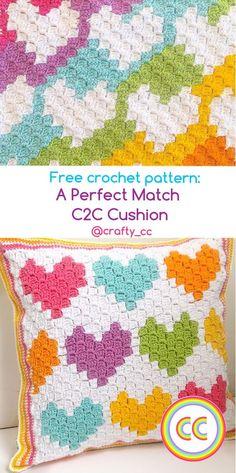 Crochet C2c Pattern, Crochet Pillow Patterns Free, C2c Crochet Blanket, Crochet Chart, Crochet Hooks, Free Crochet, Afghan Patterns, Square Patterns, Crochet Granny