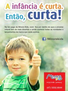 Curta a Minore Kids no Facebook. www.facebook.com/Minorekids