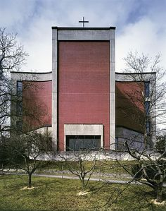 Church Facade Shape Color  Church St Leopold (1968-71) in Linz, Austria, by Gottfried Nobl