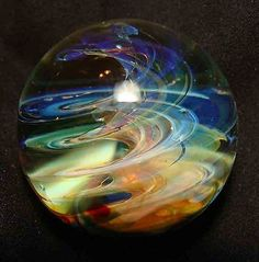 kc boro glass marble fumed twister mystic wind 1 1/8""