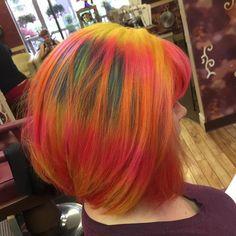 Dye coloured hair by 25 best tie dye hair images on coloured hair. Tie Dye Hair, Pink Dye, Dyed Hair Pastel, Coloured Hair, Unicorn Hair, Hair Images, Blonde Balayage, Dark Skin, Her Hair