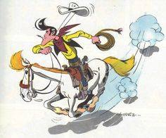 Lucky Luke - Red Kit Bd Comics, Funny Comics, Bd Lucky Luke, Looney Tunes Cartoons, Cartoon Characters, Fictional Characters, Amazing Adventures, Animation Film, Drawings