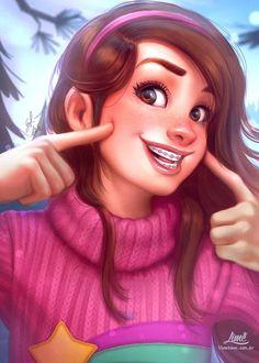 Mabel Pines by AmandaDuarte Mabel Pines - Gravity Falls 2012 Anime Gravity Falls, Gravity Falls Fan Art, Gravity Falls Comics, Gravity Falls Dipper, Mable Pines, Dipper Pines, Monster Falls, Grabity Falls, Fall Anime