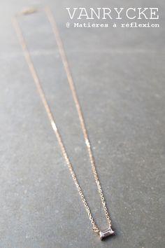 #giftidea #vanrycke Georgia #diamond #necklace #rosegold