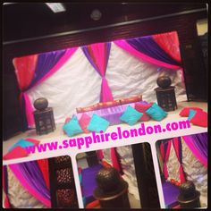 Customised wedding and henna party stage designs  A morrocon touch  www.sapphirelondon.com