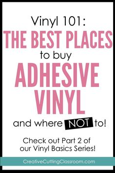 Welcome back to our Vinyl 101 series. In part one I talked about what adhesive vinyl is and we looked at all of the different kinds available. Today I am going to share with you some of my favorite places to buy adhesive vinyl. Vinyl Spray Paint, Adhesive Vinyl, Cricut Fonts, Cricut Vinyl, Cricut Air, Vinyl Crafts, Vinyl Projects, Jar Crafts, Cricut Tutorials