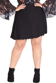 65f3238a7790a City Chic Pleated Knit Skirt - Plus Size Plus Size Skirts