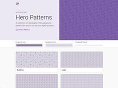 Hero Patterns 免費SVG重複背景圖產生器,CSS程式碼複製貼上快速套用