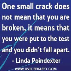 You're not broken  @Jennifer Byrnes