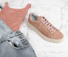 Post Xchange ZIGGY 01 roze lage sneakers