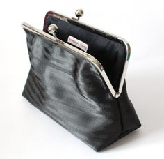 Black seatbelt clutch purse  Women's seatbelt by needlevsthread, $55.00