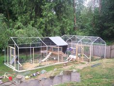 carport chicken coop | ... large aviary out of a carport, completely contained in chicken wire