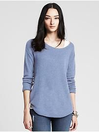 Textured Boatneck Pullover