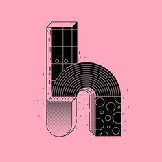 "Letter ""H"" #36daysoftype #36daysoftype05 #36days_h #typeyeah #typetopia #typography #TYxCA #vector #vintage #retro #isometric #illustration… Lettering Design, Design Letters, 36 Days Of Type, Graphic Design Illustration, Illusions, Adam Taylor, Typography, Retro, Shaving"