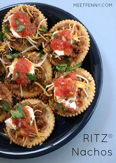 NEW at Meet Penny: RITZ® Crackers Nachos with Homemade Salsa and a CONTEST! How do you top a RITZ? #PutItOnARitz #Ad