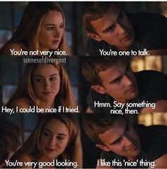 Tobias and Tris. Divergent, Insurgent, Allegiant.