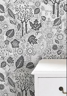 Wallpaper Autumn - Charcoal by Bold & Noble at BODIE and FOU — Bodie and Fou - Award-winning inspiring concept store