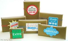{Back To School} Brown Paper Candy Grams