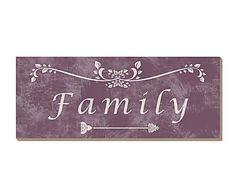 Carteles con mensaje: Cartel decorativo Family – multicolor