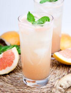 Grapefruit Ginger Rum Spritzer