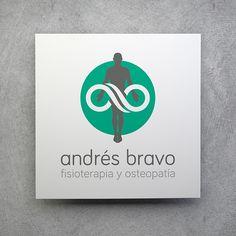 Diseño de logotipo para Andrés Bravo, Fisioterapia y Osteopatía.