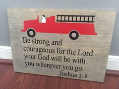 Fire truck boys nursery sign by ATouchOfExpressions on Etsy