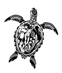 Honu (tribal sea turtle) by Takihisa