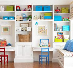 Ideas for Kids Study Area from BHG - if I ever get a homeschool room again...