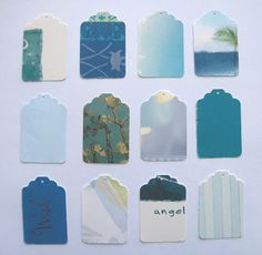 recycle gift cards into gift tags or luggage tags. Just add self adhesive name tags to it.