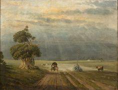 Prilidiano Pueyrredón (1823-1870) | El alto de San Isidro | 1865 | Óleo sobre tela | 45 x 58 cm