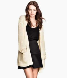 I like wearing dresses with an elastic waist with a long cardigan