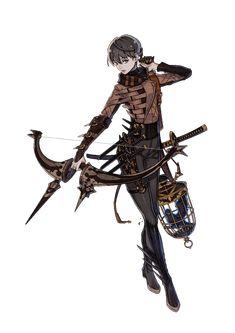 Lio the Sharpshooter character artwork from Terra Battle - inspiration art - Game's Fantasy Character Design, Character Design Inspiration, Character Concept, Character Art, Concept Art, Dnd Characters, Fantasy Characters, Female Characters, Anime Warrior