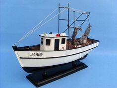 Wooden Forrest Gump - Jenny Model Shrimp Boat - This Wooden Forrest Gump - Jenny Model Shrimp Boat was inspired by the fishing boat and shrimp boat Jenny from the movie Forrest Gump starring Tom Hanks, this is a fine-crafted model fishing boat replica. Remote Control Boat, Radio Control, Shrimp Boat, Boat Kits, Wood Boats, Forrest Gump, Boat Plans, Boat Building, Model Ships